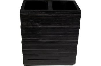 GRUND Zahnputzbecher BRICK, schwarz 10,1x6,3x11,5 cm