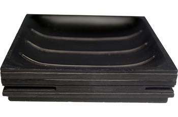 GRUND Seifenablage BRICK, schwarz 11,6x11,6x2,6 cm