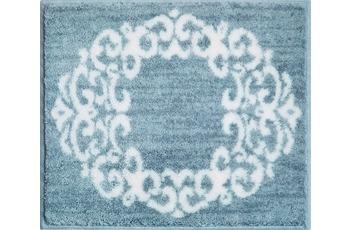 GRUND Badteppich CLASSIQUE grau 50 cm x 60 cm WC-Vorleger ohne Ausschnitt
