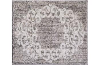 GRUND Badteppich CLASSIQUE taupe 50 cm x 60 cm WC-Vorleger ohne Ausschnitt
