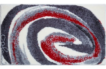 Colani 42 Badteppich grau-rot 70x120 cm