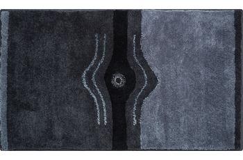 GRUND CRYSTAL LIGHT Badteppich anthrazit 47 x 50 cm Deckelbezug