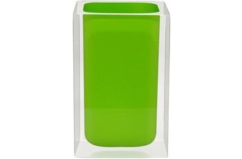GRUND Zahnputzbecher CUBE, grün 7x7x11 cm