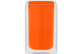 GRUND Zahnputzbecher CUBE, orange 7x7x11 cm