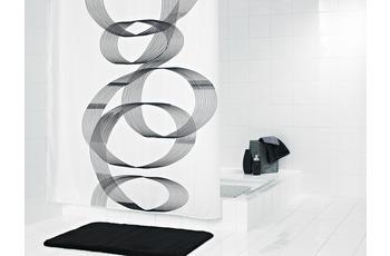 GRUND Duschvorhang CURVO weiss-grau