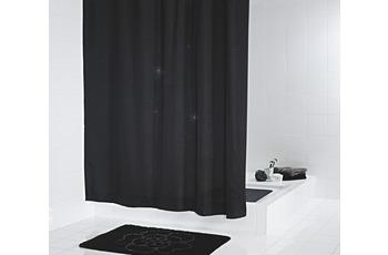 GRUND Duschvorhang DIAMANTE schwarz glänzend