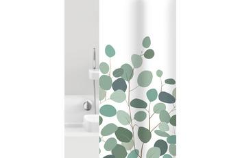 GRUND Duschvorhang Floral weiß/ grün 180x200 cm