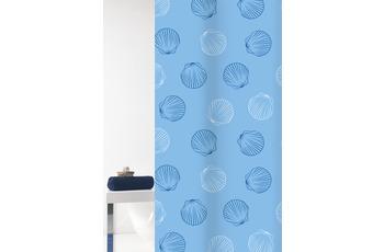 GRUND Duschvorhang Mara weiß/ blau 180x200 cm
