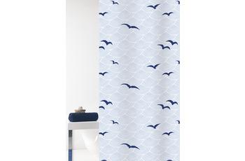 GRUND Duschvorhang Seacoast weiß/ blau 180x200 cm