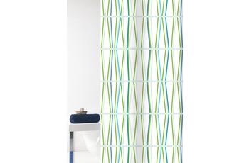 GRUND Duschvorhang Tenura weiß/ grün 180x200 cm