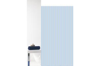 GRUND Duschvorhang Vertical weiß/ blau 180x200 cm