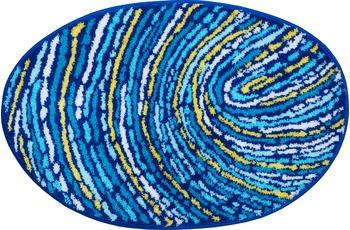 GRUND FINGERPRINT Badteppich blau-gelb