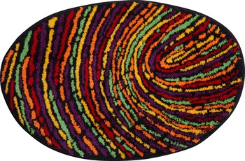 GRUND FINGERPRINT Badteppich multicolored 70 x 110 cm oval