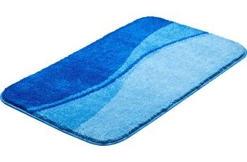 GRUND FLASH Badteppich Blau 55 x 60 cm WC-Vorleger mit Ausschnitt