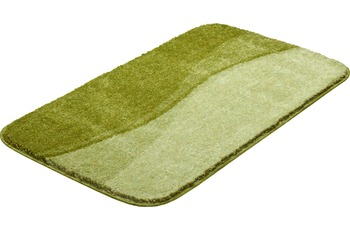 GRUND FLASH Badteppich Grün 55 x 60 cm WC-Vorleger mit Ausschnitt