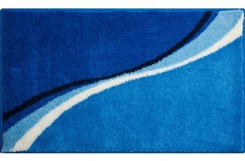 GRUND LUCA Badteppich blau 47x50 cm Deckelbezug