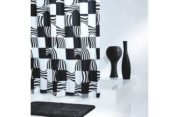 GRUND Duschvorhang NERO schwarz-weiss