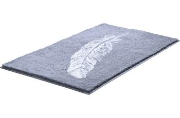 GRUND PIUME Badteppich Grau 50 x 60 cm WC-Vorleger ohne Ausschnitt