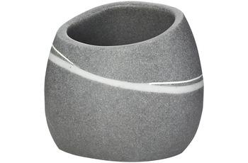 GRUND Zahnputzbecher STONE, grau 9x7,5x8 cm