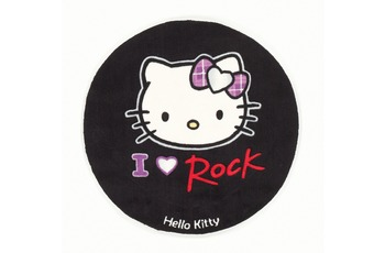 Hello Kitty Kinder-Teppich I Love Rock HK-BC-15 80 cm rund