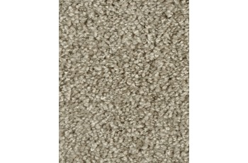 Hometrend SAREMO Teppichboden, Hochflor Uni-Velours, beige/ grau