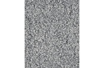 Hometrend SAREMO Teppichboden, Hochflor Uni-Velours, blaugrau