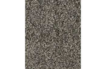 Hometrend SAREMO Teppichboden, Hochflor Uni-Velours, grau