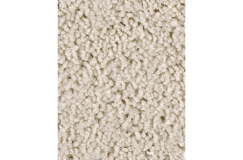Hometrend Teppichboden Meterware Hochflor Velours Weiß/ Creme