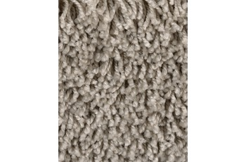 Hometrend CARLITA/ GREASE Teppichboden, Shaggy Hochflor, grau/ Beige