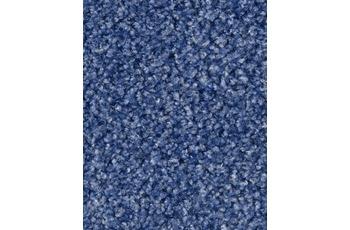 Hometrend Teppichboden Meterware Velours Blau