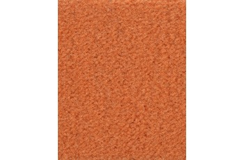 Hometrend Teppichboden Meterware Velours uni Orange