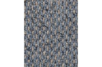 Hometrend Teppichboden Schlinge strukturiert hellblau/ beige