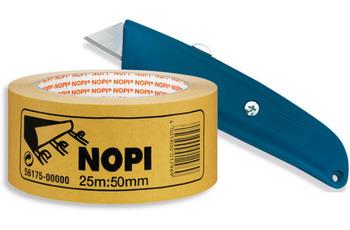 ilima Teppichverlegeset - Cuttermesser/ Teppichmesser + 25m NOPI Verlegeband doppelseitiges Teppich-Klebeband
