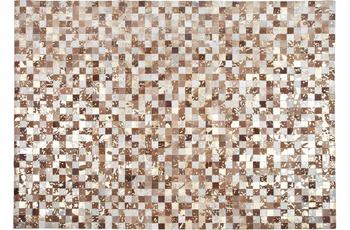 Kelii Leder-Teppich Luna Trend Chaman IV beige/ brown