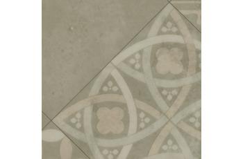 ilima Vinylboden PVC Fliesenoptik Retro diagonal beige grau