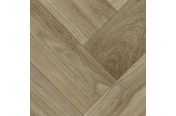 ilima Vinylboden PVC Malea Holzoptik Fischgrät Eiche hell-grau