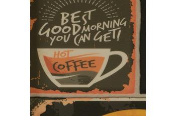 ilima Vinylboden PVC Nakoma Steinoptik Schild Schrift Kaffee Coffee