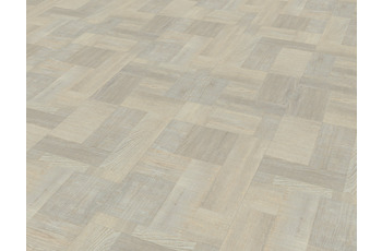JAB Anstoetz LVT Designboden Blocked Wood White