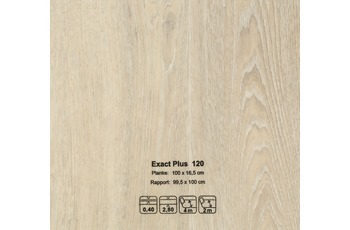 JOKA CV-Belag Exact Plus - Farbe 120 Eiche Landhausdiele weiß grau