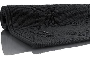 JOOP! Badezimmerteppich NEW CORNFLOWER schwarz 70 cm x 120 cm