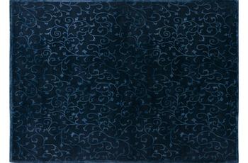 Nepal-Teppich Kangri Super A71 dunkelblau 170 cm x 240 cm