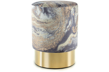 Kayoom Hocker Gipsy 325 Hellblau /  Gold