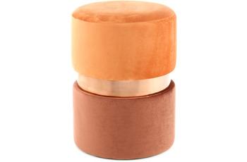 Kayoom Hocker Gipsy 825 Terra /  Rosé /  Braun