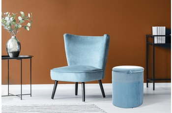 Kayoom Hocker Kassandra 125 Hellblau /  Blau