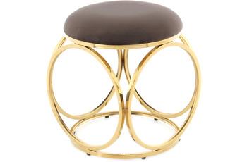 Kayoom Hocker Whitney 325 Taupe /  Gold
