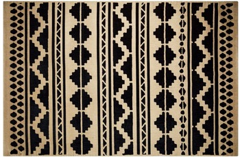 Kayoom Teppich Scandy 310 Schwarz /  Naturell