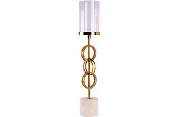 Kayoom Kerzenständer Edda 225 Gold /  Weiß