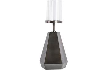 Kayoom Kerzenständer Elin 125 Schwarz /  Nickel