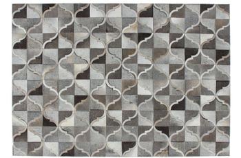 Kayoom Lederteppich Lavish 310 Grau