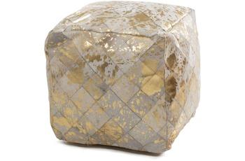 Kayoom Lavish Pouf 210 Elfenbein /  Gold 45 x 45 cm